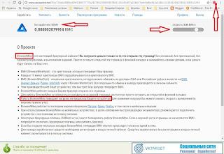Работа на сайте. Показан скриншот блокировки скрипта для майнинга в браузере