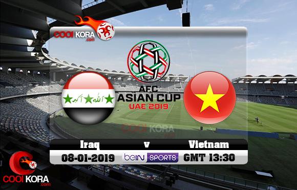 مشاهدة مباراة العراق وفيتنام اليوم كأس آسيا 8-1-2019 علي بي أن ماكس