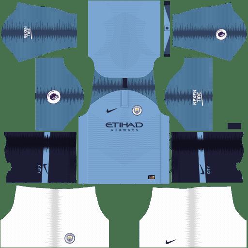 Manchester City 2018 - 2019 Dream League Soccer Kits & FTS15