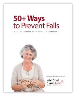 "Download our free guide ""50+ Ways to Prevent Falls""."