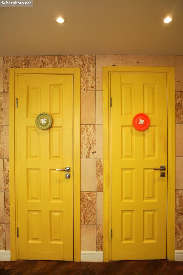 двери в туалетную комнату