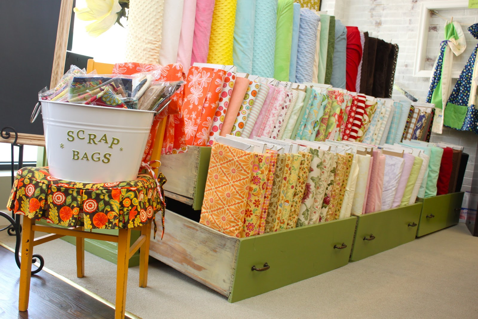 Material Girl Fabric Shop And A Big Announcement Smashed Peas Carrots