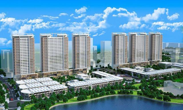 Một góc dự án Khai Sơn City, phân khu Khai Sơn Town