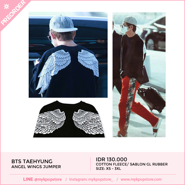 BTS V Angel Wings Pullover