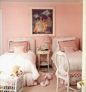 habitación color rosa niñas