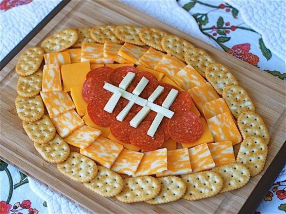 Super Bowl Snacks, Football Cheese plate