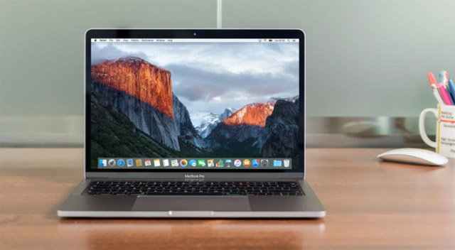 Apple Macbook Pro 13 2017 construção material design