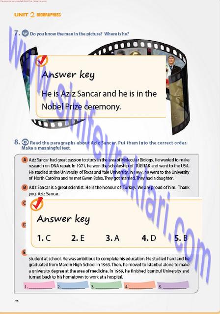 7. Sınıf İngilizce Ders Kitabı Cevapları Pantera Yayınları Sayfa 20