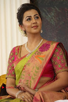 Actress Nikki Galrani Latest Pos in Saree Neruppu Da Movie Audio Launch  0005.jpg