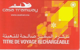 Ticket de tramway rechargeable à Casablanca