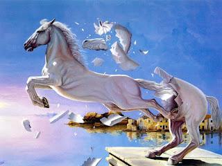 Άλογο-ελευθερώνεται-από-το-άγαλμα-του
