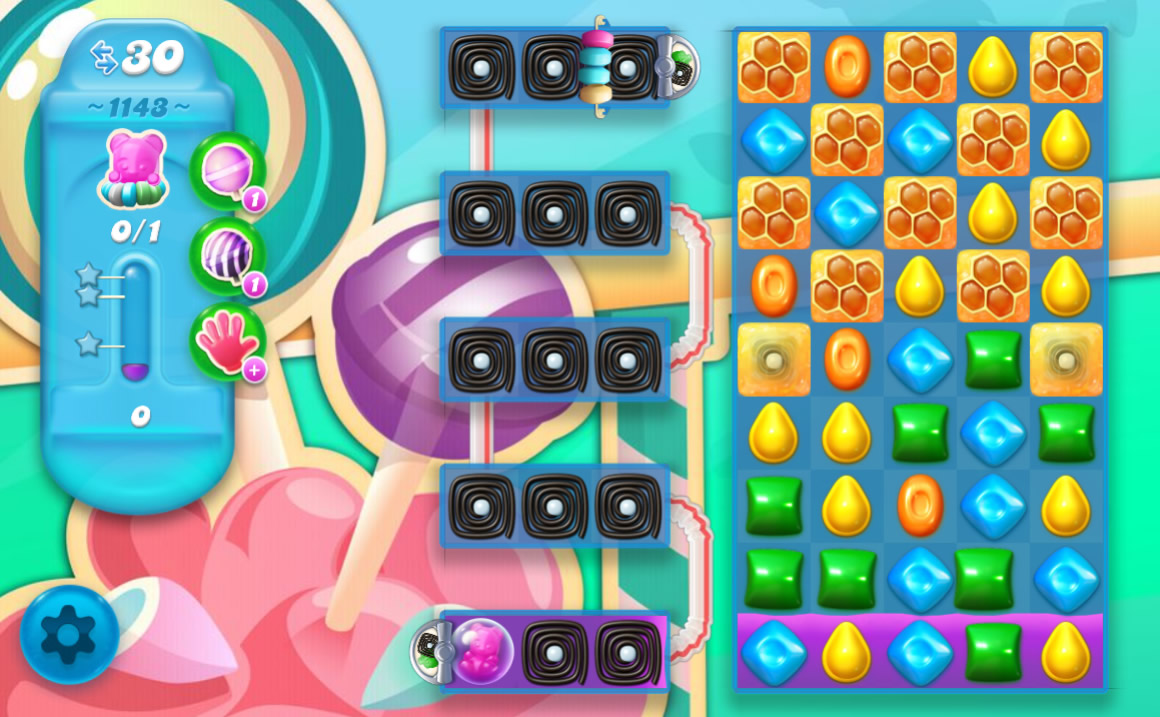 Candy Crush Soda Saga level 1143