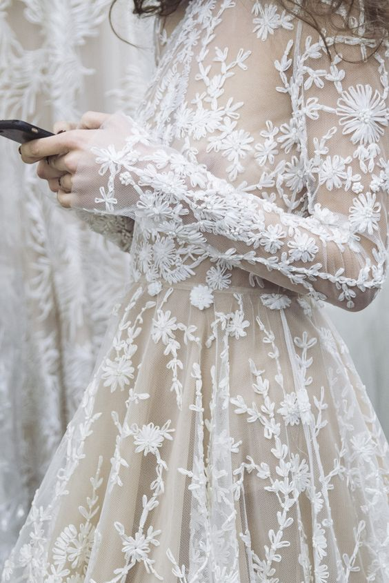 delicate lace wedding style inspiration