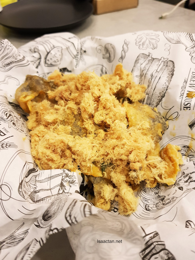Salted Egg Fish Skin with Pork Floss - RM13.80