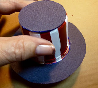 Patriotic mini hat