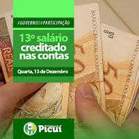 Prefeitura de Picuí paga 13º em única parcela e injeta r$1,4 milhões na economia