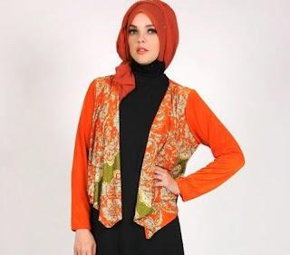 20+ Contoh Model Blazer Batik Wanita Desain Terbaru 2018
