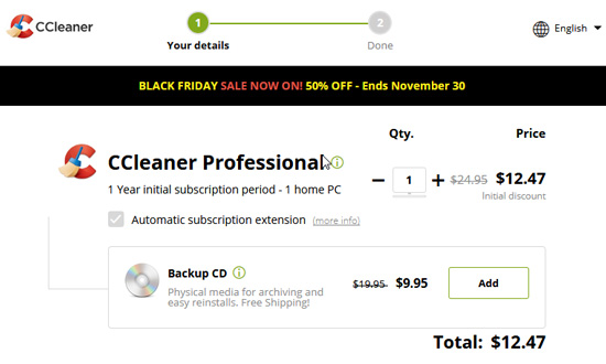 CCleaner Pro Coupon Discount Code