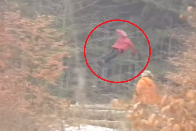 WATCH: Flying Russian Girl Caught On Tape