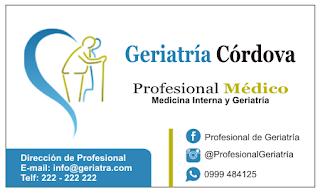 Tarjetas de presentación para geriatras