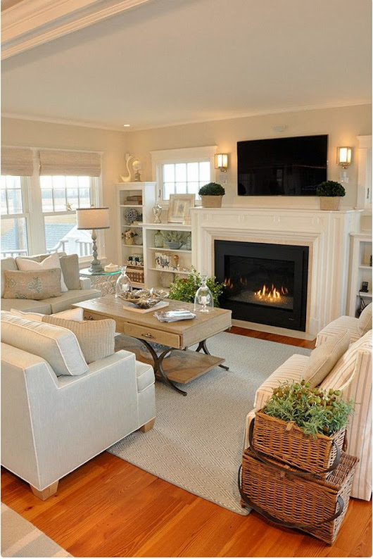 Great living room decor and furniture layout.The home decor and designs with style