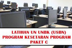 Terlengkap Soal Latihan Un Unbk (Usbn) Kegiatan  Paket C Mata Pelajaran Bahasa Indonesia