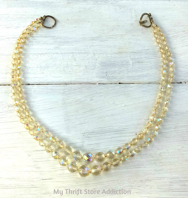 faceted vintage crystal beads
