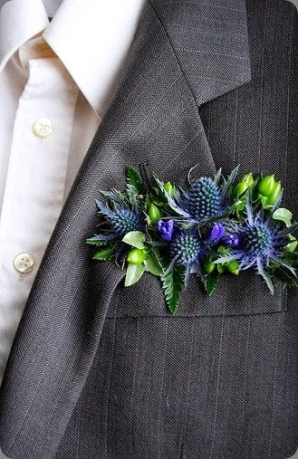 elegant flowers pocket square