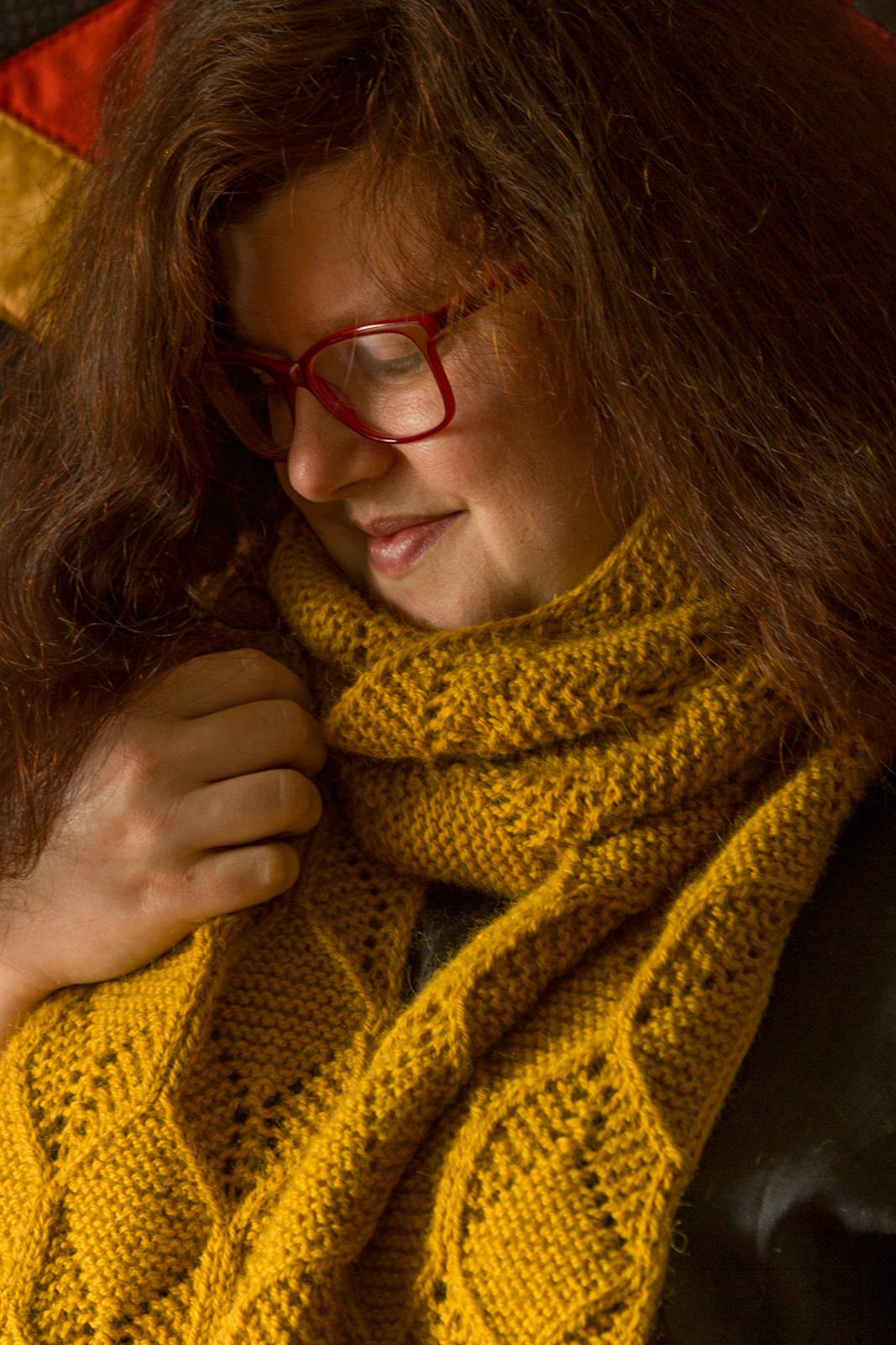 baroque purls: New pattern: Beeswax Scarf