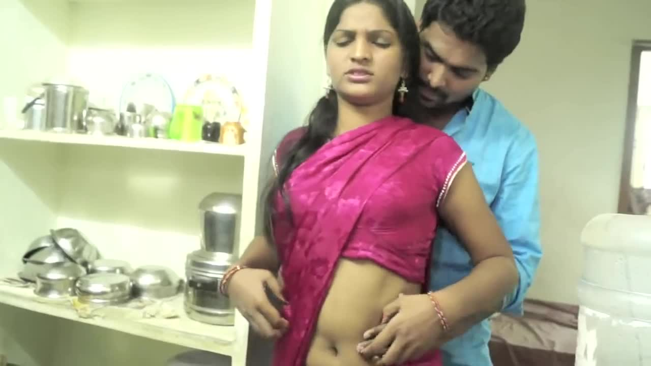 Newly Married Wife And Husband Romance In Kitchen And Bedroom-8167