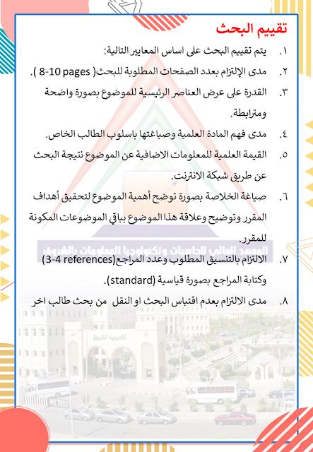 شروط المعهد العالي للهندسة وحاسبات واعلام بالشروق لقبول بحوث الطلبة الجامعية لمرحلة النقل