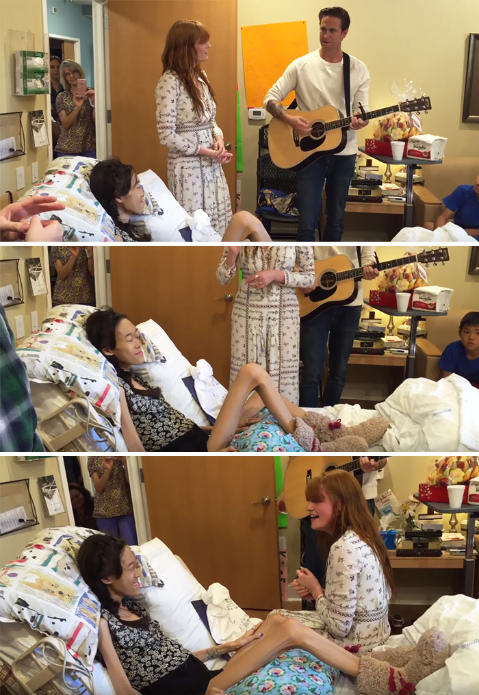 36 People's Heart-Breaking Last Wishes - This Girl Gets Her Dying Wish Of Being Serenaded By Florence And The Machine