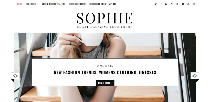 Sophie Free Blogger Template