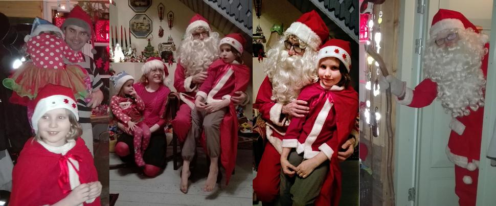 lapset jännittävät joulupukin saapumista