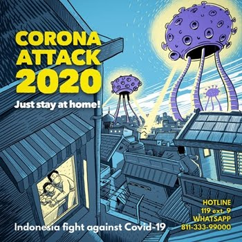 CORONA ATTACK! STAY AT HOME!