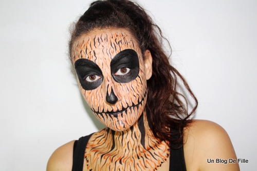 Un blog de fille tuto vid o maquillage halloween - Maquillage halloween citrouille ...