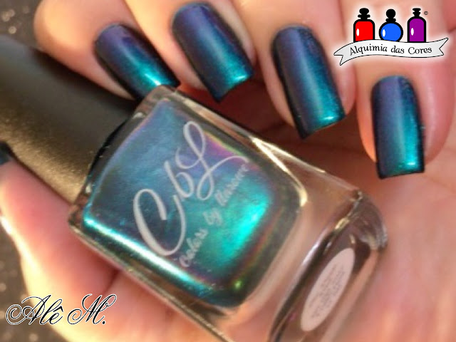 CbL, Llarowe, The Deep End, The Deep End H, Blackest Night, KN2, Blue Skies, Stamping Polish, Holo, Alê M.