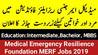 Medical Emergency Resilience Foundation (MERF) Orakzai Agency job 2019