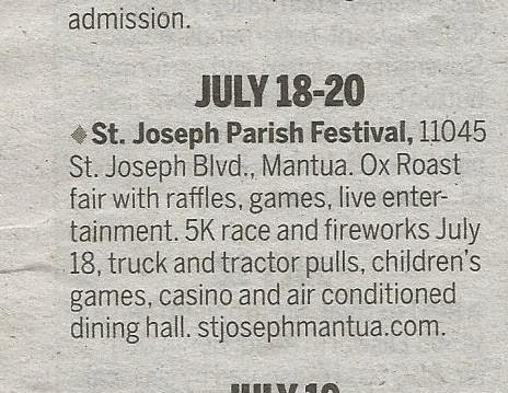 Kidding Around: St. Joseph Parish Festival