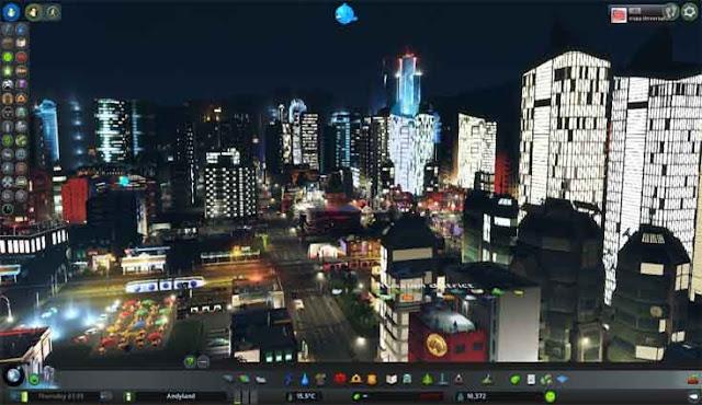Cities Skylines de noche