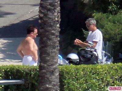 Bono y George Clooney en Eze, Francia Agosto 2011