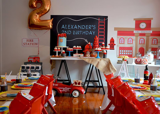 Fire Truck Party by Sugar Coated Candy Buffets