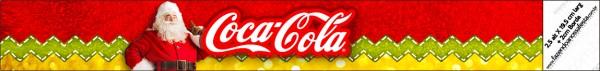 Etiquetas para personalizar botellas de Santa Claus en Rojo y Dorado.