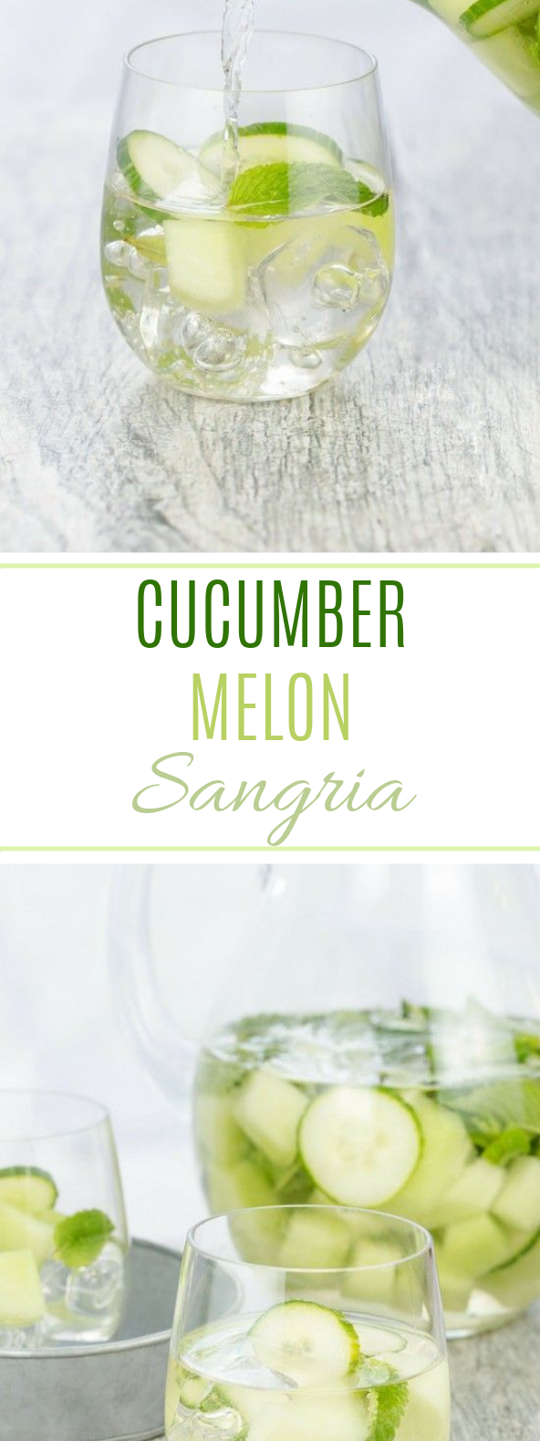 Cucumber Melon Sangria #drinks #summer