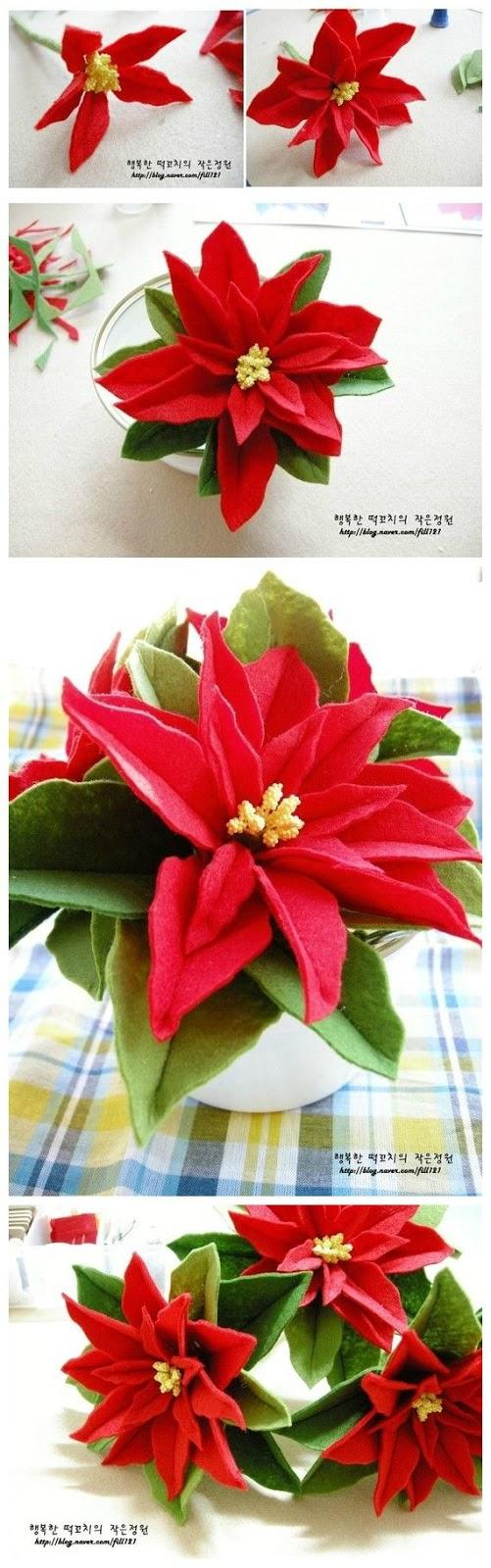 Come Costruire Una Stella Di Natale.Come Fare Una Stella Di Natale Con Feltro Donneinpink Magazine