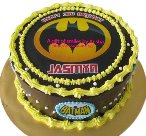 Birthday Cake Edible Image Batman Ai-sha Puchong Jay