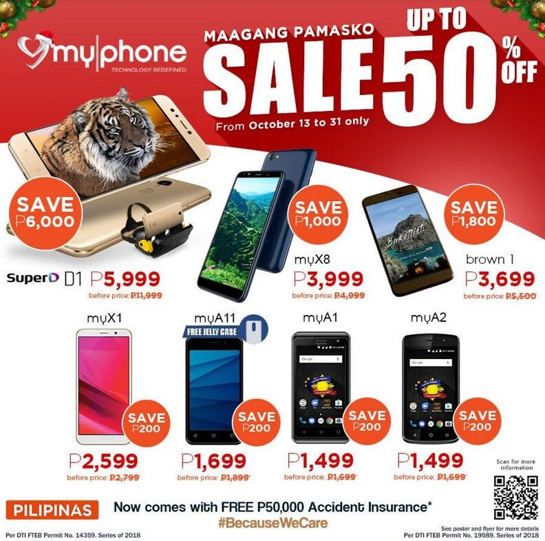 MyPhone Early Christmas Sale; Save Up To 50% Off