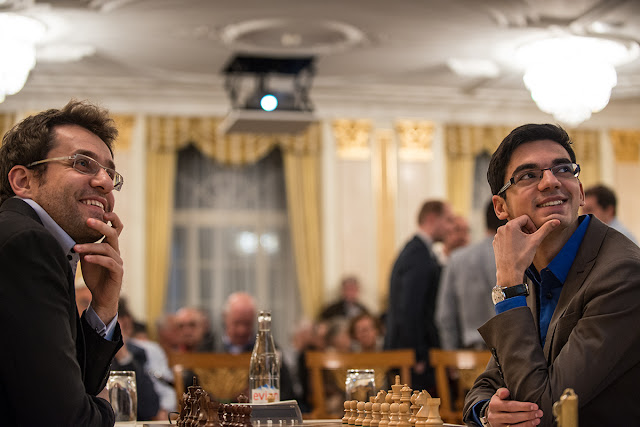Aronian y Giri en el Zurich Chess Challenge 2016