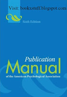 Publication Manual by APA 6th Edition