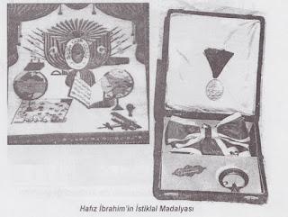 kırmızı yeşil şeritli İstiklal Madalyası